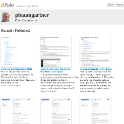 R Markdown documents of Peter Baumgartner published at the free RStudio server